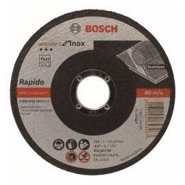 Bosch Darabolótárcsa, egyenes, Standard for Inox – Rapido WA 60 T BF, 115 mm, 22,23 mm, 1,0 mm