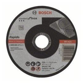 Bosch Darabolótárcsa, egyenes, Standard for Inox – Rapido WA 60 T BF, 125 mm, 22,23 mm, 1,0 mm