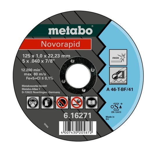 Metabo Novorapid INOX vágótárcsa 125 mm