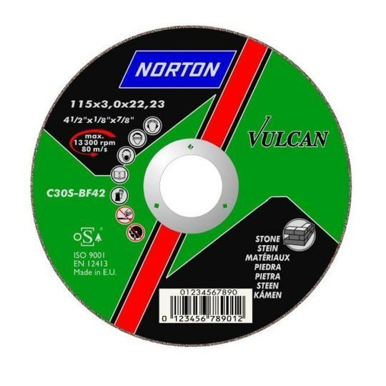 Norton Vulcan Kőzetcsiszoló 230 x 6,4 mm