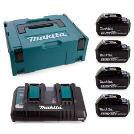 Makita 197970-3 4db BL1830 Akkumulátor + DC18RD Töltő csomag MAKPAC Kofferben