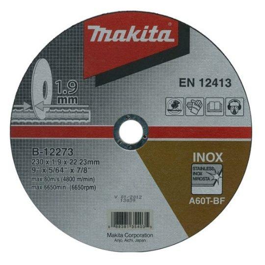 Makita B-12273 Inox vágókorong 230 x 1,9 mm