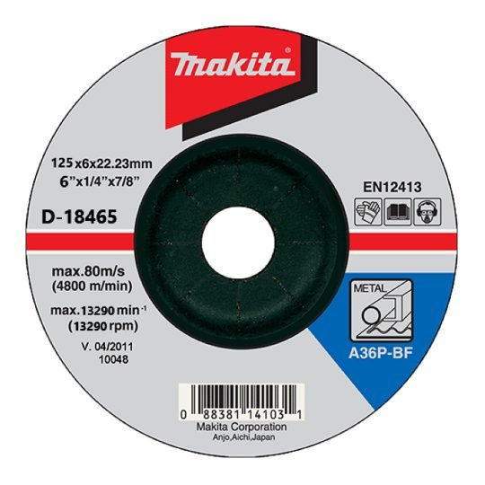 Makita D-18465 Nagyolótárcsa 125 x 6 mm