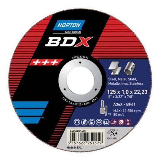Norton BDX Fém vágókorong 125 x 1 mm