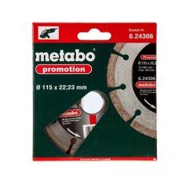 Metabo gyémánt darabolótárcsa 115 x 22,23 mm 6.24306