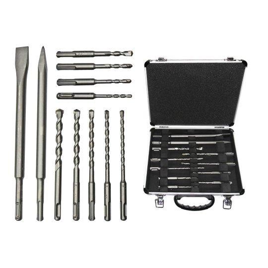 Bosch SDS-Plus Mixed Set 11 részes kalapácsfúró készlet alumínium kofferben