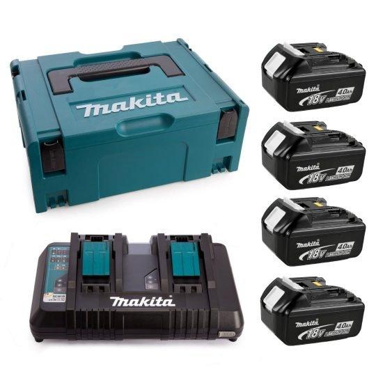 Makita 197503-4 4db BL1840 4Ah Akkumulátor + DC18RD Töltő csomag MAKPAC Kofferben