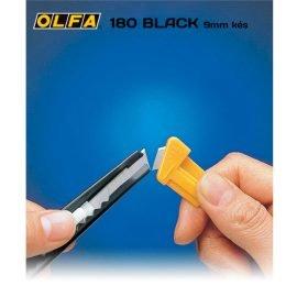 Olfa 180 Black - 9mm-es standard kés / sniccer