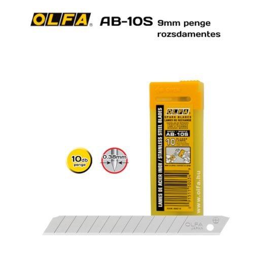 Olfa AB-10S - 9mm-es Standard tördelhető rozsdamentes penge