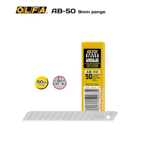 Olfa AB-50 - 9mm-es Standard tördelhető penge
