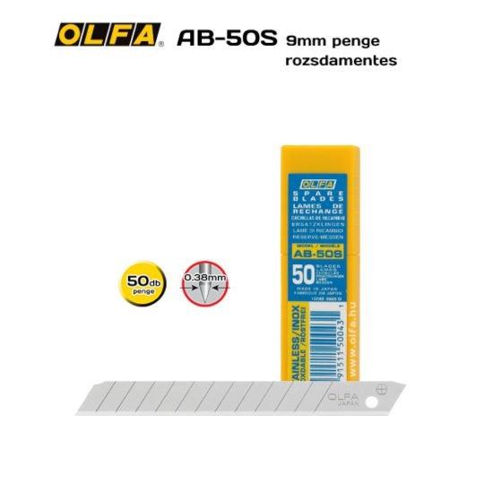 Olfa AB-50S - 9mm-es Standard tördelhető rozsdamentes penge