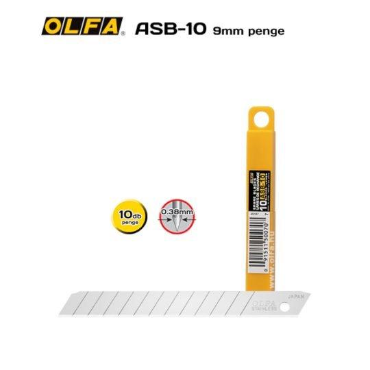 Olfa ASB-10 - 9mm-es Standard tördelhető penge