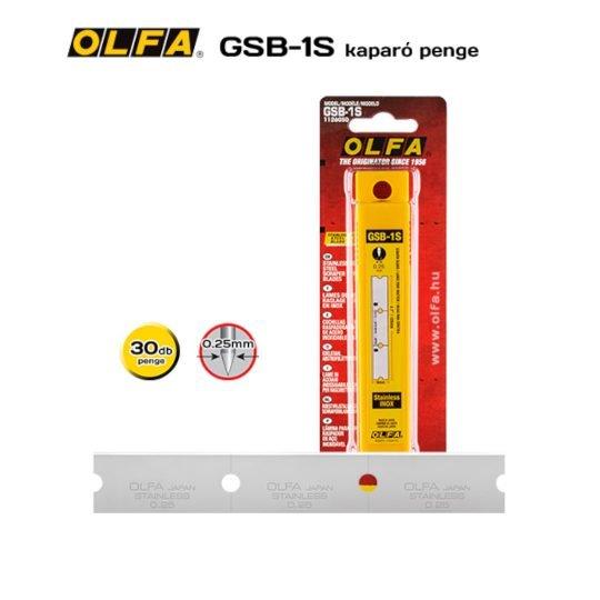 Olfa GSB-1S - Rozsdamentes kaparó penge