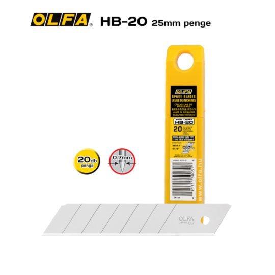 Olfa HB-20 - 25mm-es Standard tördelhető penge
