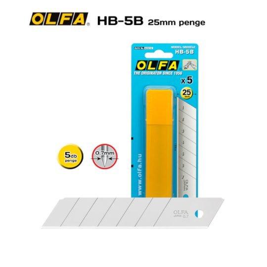 Olfa HB-5B - 25mm-es Standard tördelhető penge
