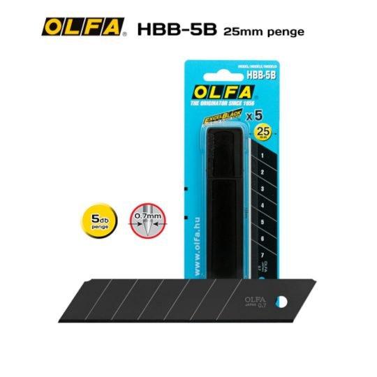 Olfa HBB-5B - 25mm-es Keskenyebb élszögű edzett tördelhető penge