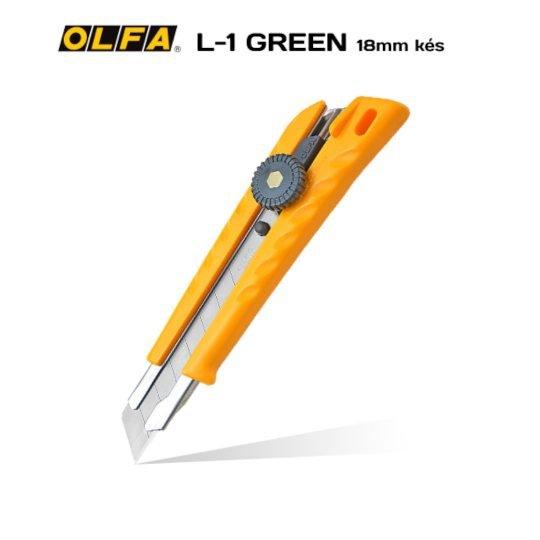 Olfa L-1/GREEN - 18mm-es standard kés / sniccer