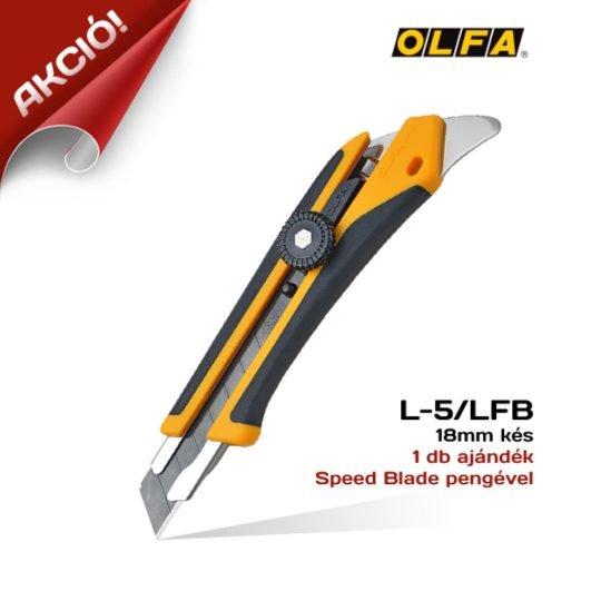 Olfa L-5/LFB - 18mm-es Standard kés / sniccer AKCIÓ