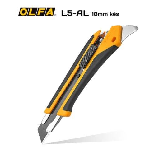 Olfa L5-AL 18mm-es standard kés / sniccer