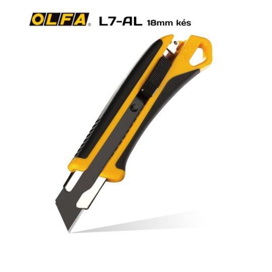 Olfa L7-AL 18mm-es standard kés / sniccer