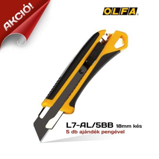 Olfa L7-AL/5BB - 18mm-es Standard kés / sniccer