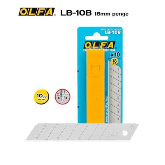 Olfa LB-10B - 18mm-es Standard tördelhető penge
