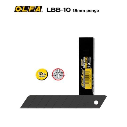 Olfa LBB-10 - 18mm-es Keskenyebb élszögű edzett tördelhető penge