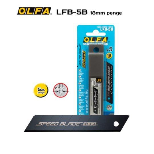 Olfa LFB-5B - 18mm-es Teflon bevonatú standard tördelhető penge