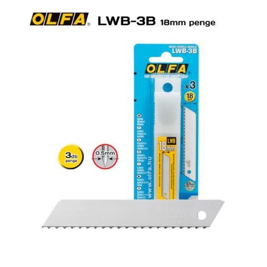 Olfa LWB-3B - 18mm-es Hullámos élszög köszörülésű penge