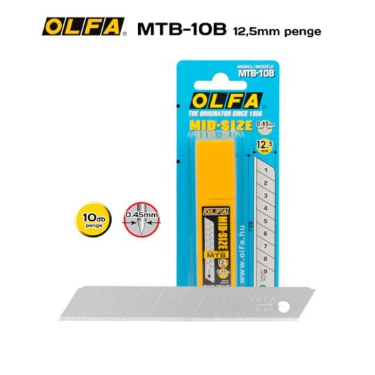 Olfa MTB-10B - 12,5mm-es Standard tördelhető penge