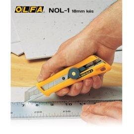Olfa NOL-1 18mm-es standard kés / sniccer