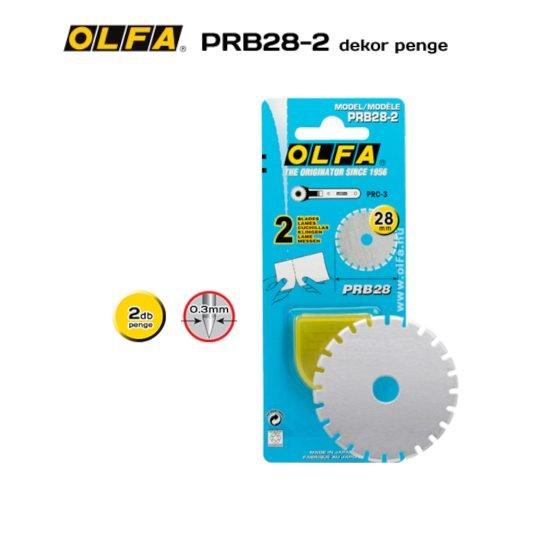 Olfa PRB28-2 - 28mm-es perforáló penge