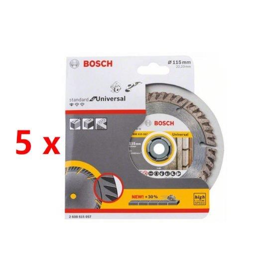 Bosch Gyémánt darabolótárcsa 115mm 5db-os szett
