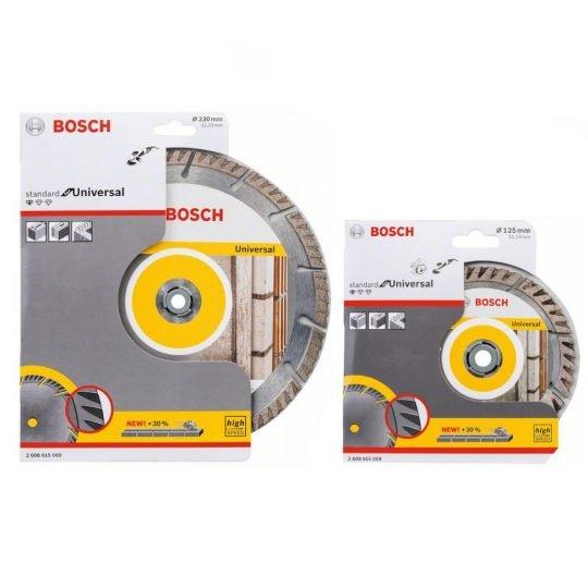 Bosch Gyémánt darabolótárcsák 125 + 230mm