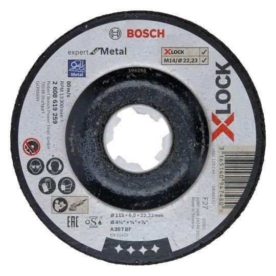Bosch X-LOCK Expert for Metal Csiszolótárcsa 125 x 6 mm