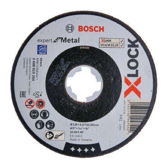 Bosch X-LOCK Expert for Metal Egyenes Vágótárcsa 125 x 1,6 mm