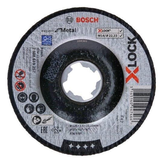 Bosch X-LOCK Expert for Metal Egyenes Vágótárcsa 125 x 2,5 mm