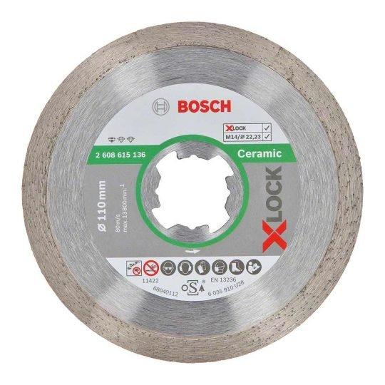 Bosch X-LOCK Standard for Ceramic gyémánt vágótárcsa 115 x 22,23 x 1,6 x 7 mm
