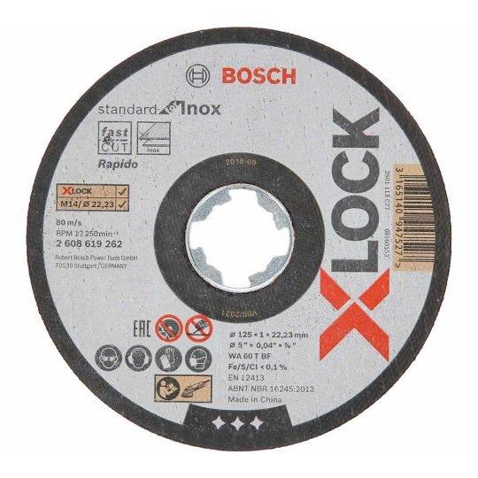 Bosch X-LOCK Standard for Inox Egyenes Vágótárcsa 125 x 1 mm