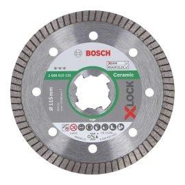 Bosch X-LOCK Best for Ceramic Extra Clean Turbo gyémánt vágótárcsa 115 x 22,23 x 1,4 x 7 mm