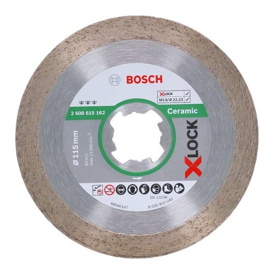Bosch X-LOCK Best for Ceramic gyémánt darabolótárcsa 110 x 22,23 x 1,6 x 10 mm