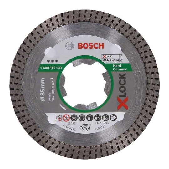 Bosch X-LOCK Best for Hard Ceramic gyémánt darabolótárcsa 85x 22,23 x 1,6 x 7 mm