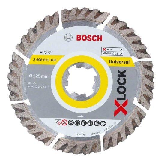 Bosch X-LOCK Best for Universal gyémánt vágótárcsa 125 x 22,23 x 2,0 x 10 mm