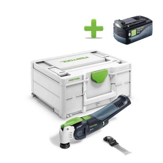 Festool Akkus oszcilláló kéziszerszám OSC 18 E-Basic VECTURO + Ajándék 202479 BP 18 Li 5,2 ASI Akkuegység