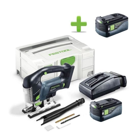 Festool Akkus szúrófűrész PSBC 420 Li 5,2 EBI-Plus CARVEX + Ajándék 202479 BP 18 Li 5,2 ASI Akkuegység