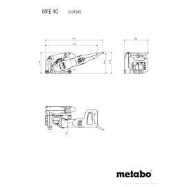 Metabo MFE 40 Falhoronymaró