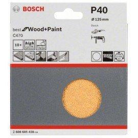 Bosch 10 részes C470 csiszolólapkészlet 125 mm, 40