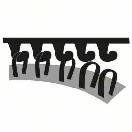 Bosch 10 részes csiszolólapkészlet multicsiszolókhoz G= 180