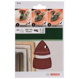 Bosch 10 részes csiszolólapkészlet multicsiszolókhoz G= 40, 120, 180
