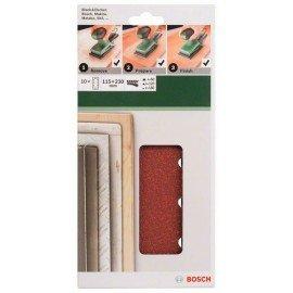 Bosch 10 részes csiszolólapkészlet rezgőcsiszolókhoz G= 60, 120, 180